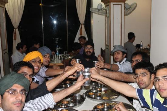 group photo natraj restaurant udaipur rajasthan