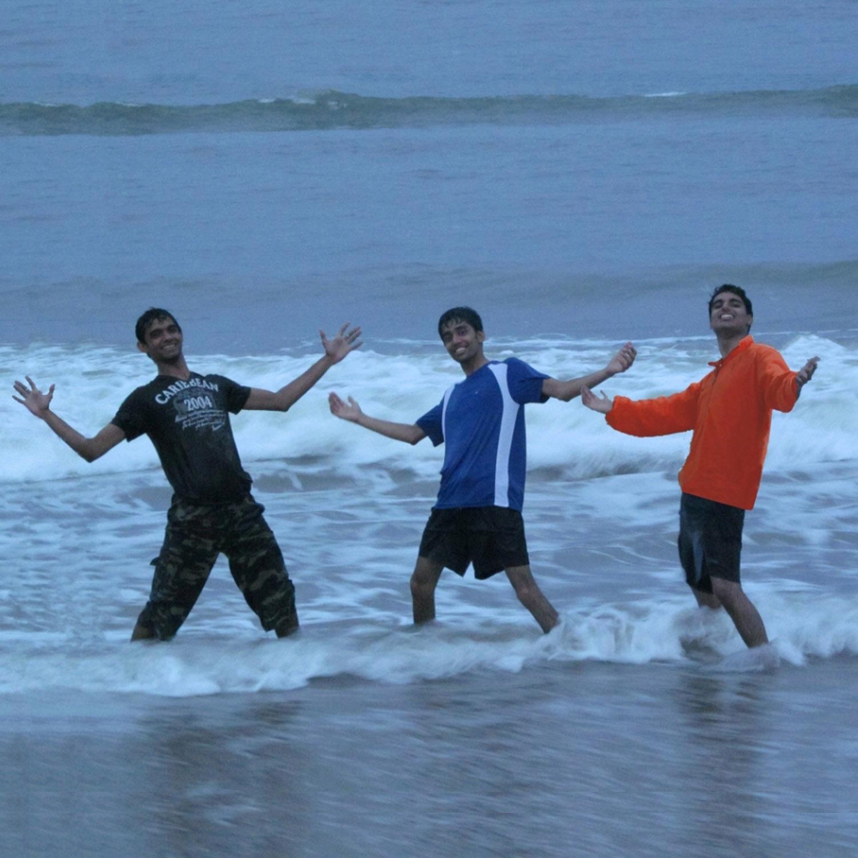 group pic beach pondicherry